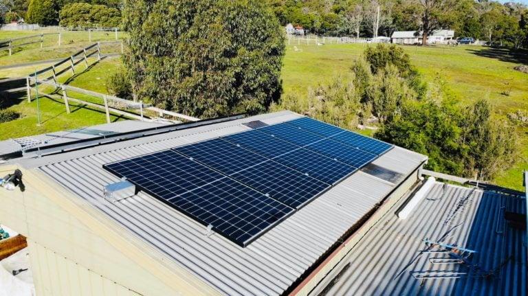 Beauty Point, Tasmania solar install
