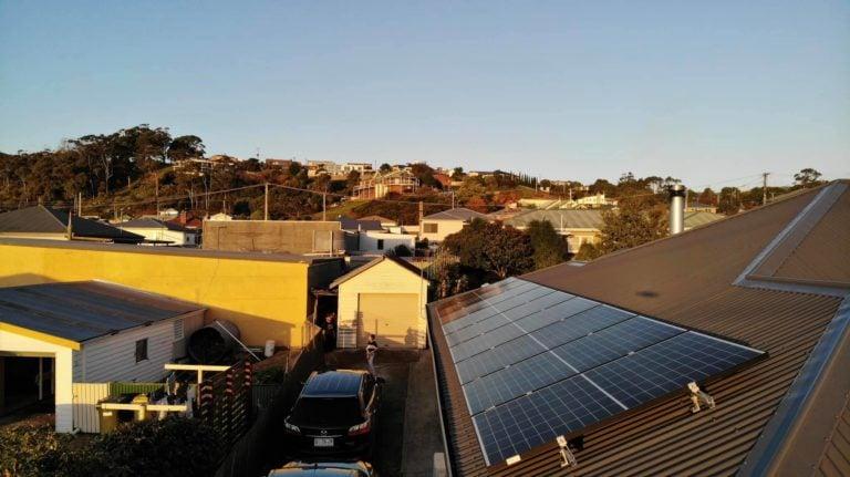 Launceston, Tasmania sunface solar install