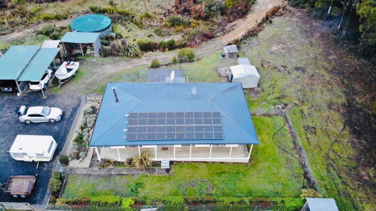 Saint Marys, Tasmania, Australia solar install