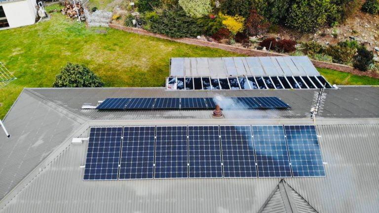 Saint Marys, Tasmania, Australia solar system installation